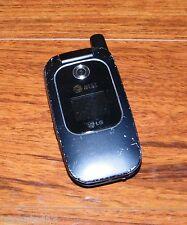 *UNTESTED* LG CU400 (AT&T) CDMA 3G Black Cellular Camera Flip Phone w/ Battery