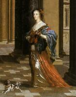 """oil painting  handpainted on canvas """"Queen Henrietta Maria with her dog"""""""