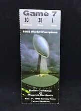 1993 WORLD CHAMPIONS DALLAS COWBOYS vs PHOENIX CARDINALS Game 7 TICKET STUB