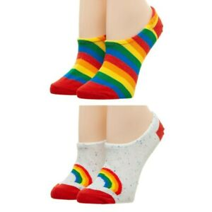 Rainbow 2 Pack No Show Liner Socks