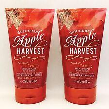 2 Bath & Body Works Suncrisp Pomme Récolte Sucre & Karité Exfoliant de Corps