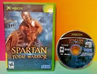 Spartan Total Warrior - Microsoft Xbox OG Game Rare  Tested