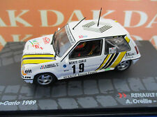 Die cast 1/43 Renault 5 GT Turbo Rally Montecarlo 1989 A.Oreille by Ixo