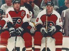 ERIC LINDROS & JOHN LECLAIR 8X10 PHOTO PHILADELPHIA FLYERS NHL PICTURE HOCKEY