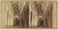 Belgium Anversa Cattedrale Foto Braun Stereo L53S1n53 Vintage Albumina c1865