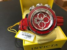 24435 Invicta Reserve Subaqua Sea Dragon Chrongraph Maple Wood Inlay Strap Watch