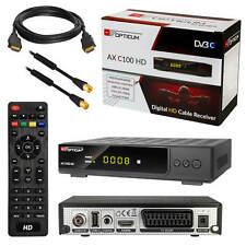 Digital Kabelreceiver Kabel TV DVB-C HDTV USB C100 SCART HDMI + Antennenkabel 1m