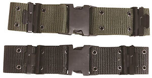"""2"""" WIDE QUICK RELEASE QR US ARMY LC-2 STYLE WEBBING COMBAT MILITARY PISTOL BELT"""