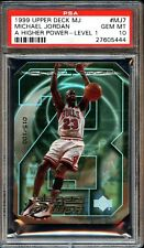1999 Upper Deck A Higher Power Michael Jordan #MJ7 Level 1 PSA 10 GEM MINT.POP 1