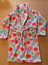 Girls Flowered Fleece Robe - Size 10