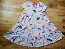 NWT HANNA ANDERSSON PURPLE DINOSAUR TWIRL TWIRLY DRESS 130 8 NEW!