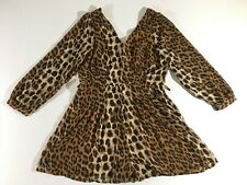 NWT Wet Seal Romper Leopard Print Long Sleeve Size XL
