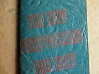 ORIGINAL- MINT 1937 FORD SALESMAN HAND BOOK FOR THE NEW FORD V8 CARS FOR 1937