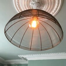 XL Domed Copper Cage Shade