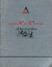Farm Combine Brochure - Allis-Chalmers - Gleaner A II C II - c1962  (F4953)