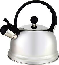 2.43 QT Stainless Steel Tea Kettle Stove Top Safe,Whistling Kettle, Silver