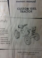 Sears Custom 10XL Lawn Garden Tractor, Engine & Mower Owner & Parts (3 Manuals)