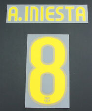 09/10-Barcelone Home Nameset; A. Iniesta 8 = Taille Junior