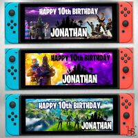 Nintendo Switch Super Mario Personalised Banner 160gsm Party Paper Birthday Game Ebay