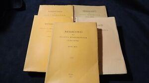 Rendiconti della società italiana di mineralogia anni XXI XIII XV XVI XVII
