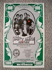 DON'T HATE MONEY Window Card FRANKLIN LACEY Los Palmas Theatre MUSICAL  LA 1977