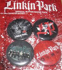 Linkin Park Badge Set Official 4 x 38mm Badges