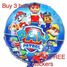 50cm PAW PATROL BALLOONS Chase Skye Marshall Ryder Toys BIRTHDAY PARTY SUPPLIES