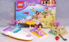 Lego Friends 3937 Olivias lancha rápida bote castillo de arena balde pala COMPL. + ba #13