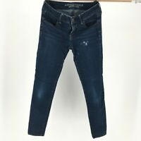 American Eagle Outfitters Skinny Jeans Jegging Super Stretch Denim Blue Womens 4