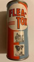Vintage Flea Tox Flea Powder Round Tin Mint Full Cats Dogs NOS