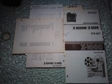 Teac x-1000 m owners service manual original repair stereo tape deck schematic