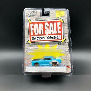 Jada For Sale 1969 '69 Chevrolet Chevy Camaro Car Blue Die Cast 1/64 Scale