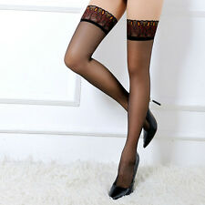 Peacock Feathers Stocking Silicone Striped Over Knee Stocking Thigh High