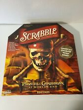pirates of the caribbean scrabble game hasbro at worlds end edition preowned