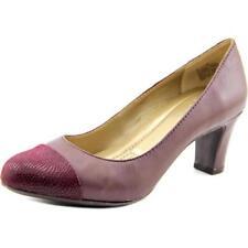 Zapatos de tacón de mujer de tacón medio (2,5-7,5 cm) de color principal morado piel