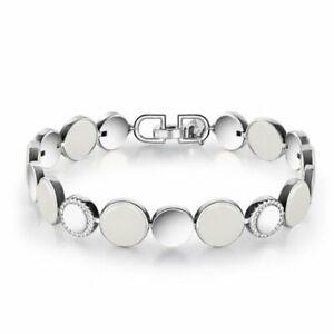 【KOOJADE】 White Jadeite Jade Silver Bracelet《Glimmer》《Grade A》(17cm)