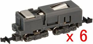 6 Pieces of Rokuhan SA001-1 Powered Motorized Chassis (Normal Type) (Z scale)