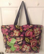 Vera Bradley Collapsible Nylon Tote Duffel in PIROUETTE PINK Limited Edition NWT