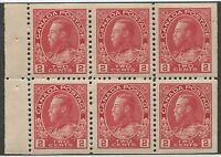 CANADA #106a MINT BOOKLET PANE VF NH