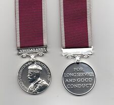 ARMY LONG SERVICE AND GOOD CONDUCT MEDAL GEO.V.CROWNED HEAD TYPE  SUPERB REPLICA
