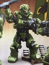 HALO SPARTAN SOLDIER From Fireteam Taurus Mega Bloks With Saw Gun And FLAG!!