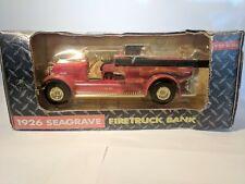 Ertl Diecast 1/30 1926 Seagrave Firetruck Bank 1992 In Box #5710