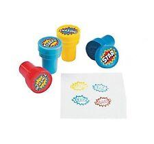 Pack of 4 - Plastic Superhero Self Ink Stampers - Teacher School Supplies