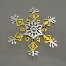 Snowflake Christmas Silver and Gold Two Tone Holiday Pin