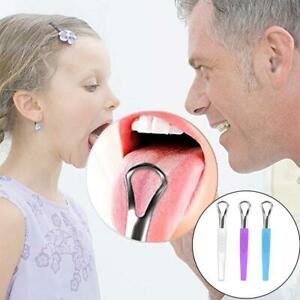 Steel Tongue Cleaner Reusable Tongue Scraper Oral Mouth Clean Tools