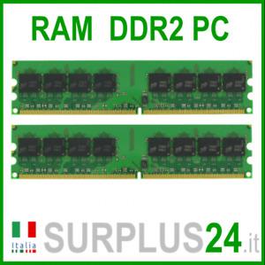 Kit RAM 4Gb (2x2Gb) PC2-6400U DDR2-800Mhz 240pin Mémoire X Bureau Pas Etc