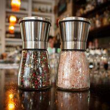 Salt And Pepper Grinder Manual Grinding Bottle Adjustable Shaker Kitchen Cxz