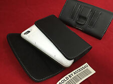 BLACK LEATHER CASE CARRYING HOLSTER BELT CLIP POUCH FOR IPHONE 5 5S 5C ARMOR