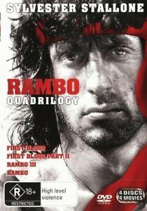 Rambo Quadrilogy First Blood / First Blood Pt 2 & 3 / Rambo DVD   Region 4