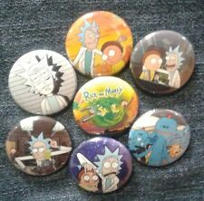 """1"""" pinback buttons inspired  by """"Rick and Morty"""" Set 1 of 2"""